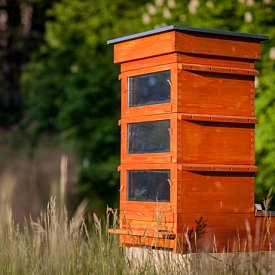 Thermosolar Hive with 3 National boxes - brood, brood, brood